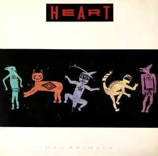Heart ‎- Bad Animals (LP) (G++/VG)